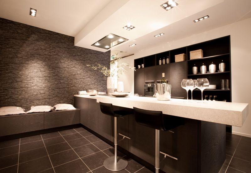 Keukens Met Eiland : Keukens.nl2 luxe eiland keuken met bargedeelte [46094]