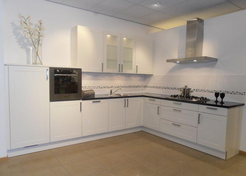 Keuken Landelijk Wit : modern landelijk keuken in wit 50740 kleur wit kaderfront verkocht